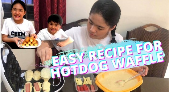 EASY RECIPE FOR HOTDOG WAFFLE USING A WAFFLE MAKER (so easy that even kids can do)