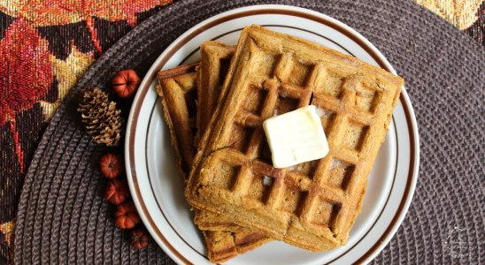 Easy & Quick Pumpkin Waffles Recipe | The Sweetest Journey