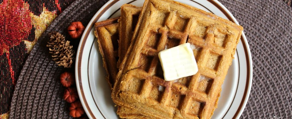 Easy & Quick Pumpkin Waffles Recipe | The Sweetest Journey