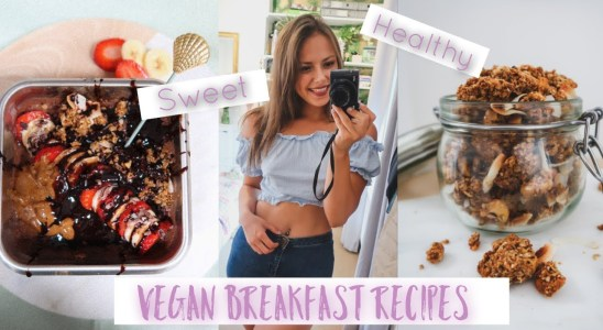 Healthy Vegan Breakfast recipes! Overnight oats | Vegan waffles | Nutty granola ! NaturallyVeganGina