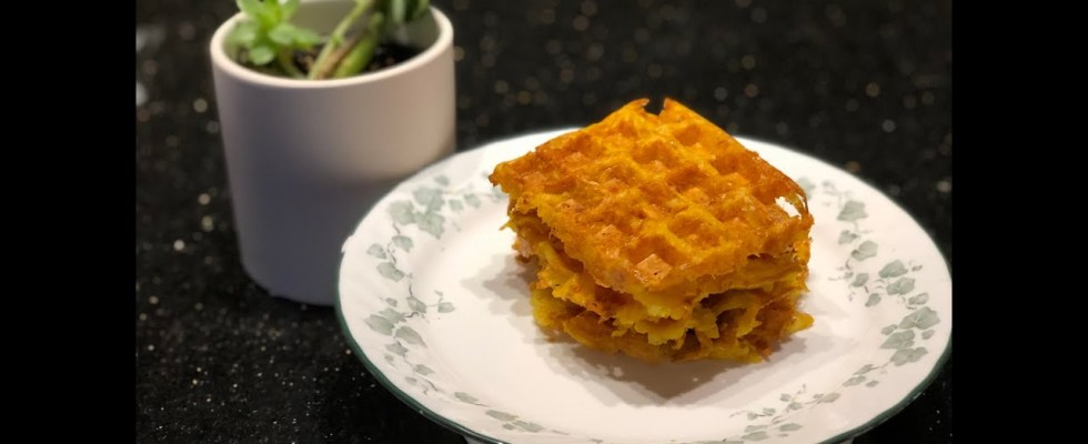 How To Make Hashbrown Cheddar Waffles