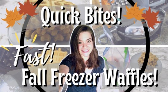 Quick Bites! | Fall Freezer Prep Cinnamon Waffles! | Quick Bake With Me!