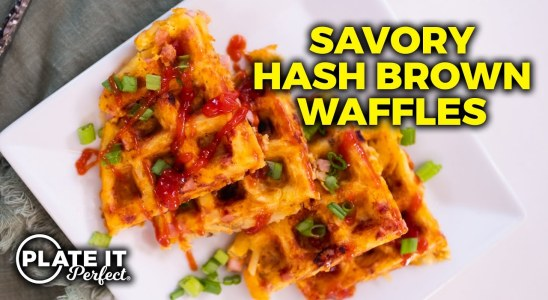Simple Savory Hash Brown Waffles | Plate It Perfect