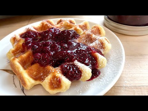 Tender Buttermilk Waffles with Quick Berry Jam | Breakfast Recipes