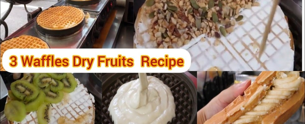 3 Instant DRY FRUIT Waffles recipes preparation for Home!