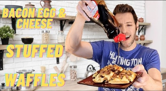 Bacon Egg and Cheese Waffles | GoStoner Kitchen