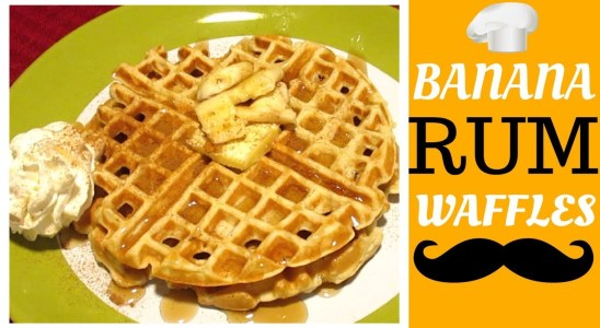 Banana Rum Waffles from Scratch | EASY RECIPE | How To