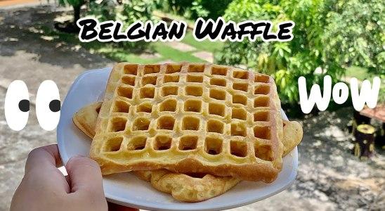 Belgian Waffle recipe I Super simple cemilan cafe I easy homemade waffle