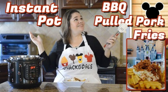 Instant Pot BBQ Pulled Pork Waffle Fries Copy Cat Disney Recipe | Easy Omni Air Fryer Fries