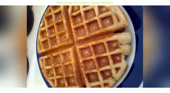 Recipe: Tasty Whole wheat waffles