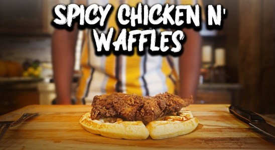 The CRISPIEST Chicken and Waffles Recipe | That Savage Kitchen