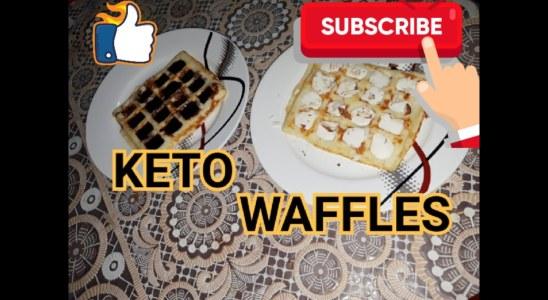 #ketobreakfast | Keto Waffles | How to make Keto Coconut Flour Waffles