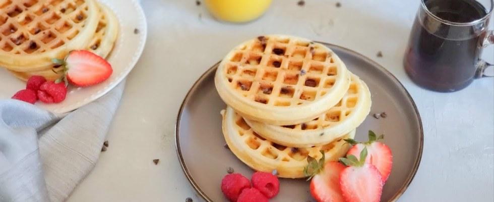Best Waffles   Chocolate Chip Waffles recipe by morEwish