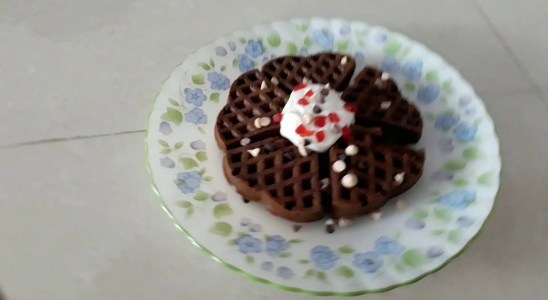 Easy Eggless Belgium Waffles recipe - Kids Favorites.