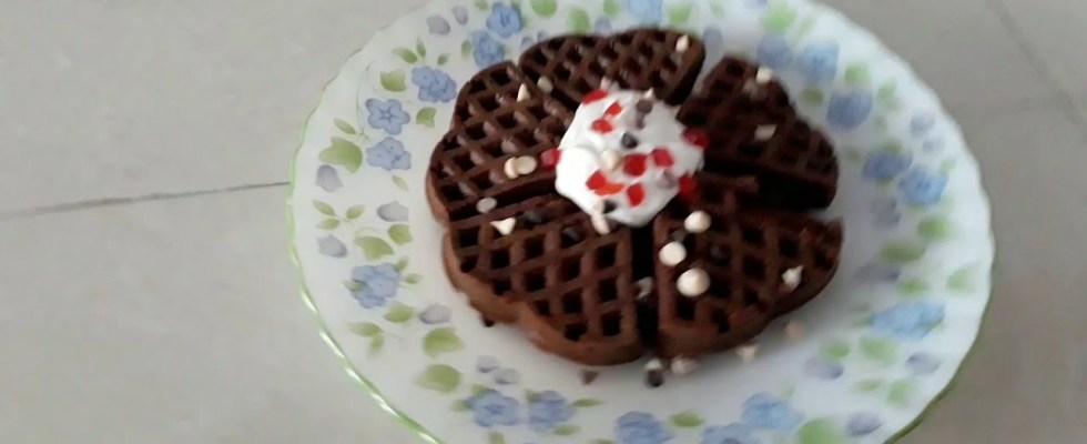 Easy Eggless Belgium Waffles recipe - Kids Favorites.