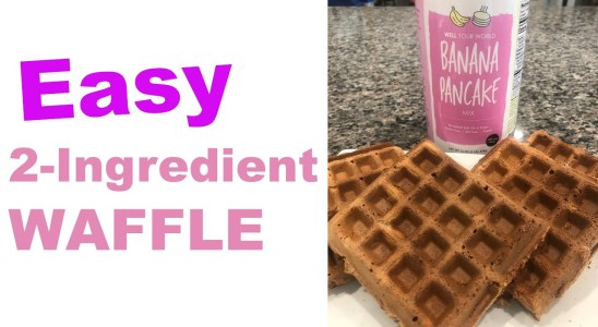 Easy Waffle Recipe TWO INGREDIENTS! - WEIGHT LOSS WEDNESDAY - EPISODE 202