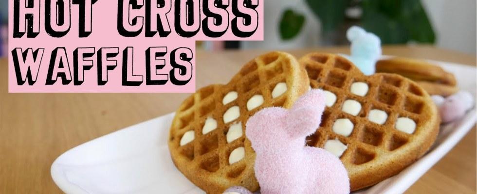 HOT CROSS BUN WAFFLES | Recipe
