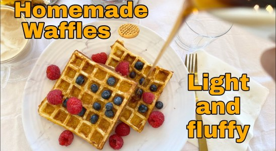 Homemade Waffles | Light and Fluffy | Sunday Breakfast