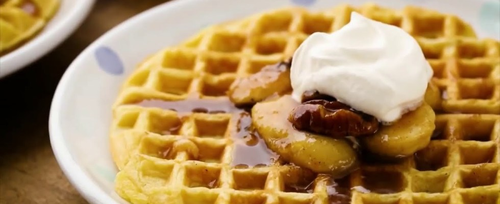 How to Make Easy and Delicious Bananas Foster Belgian Waffles