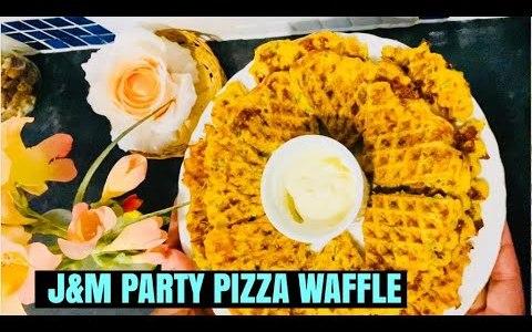 J&M Pizza waffles amazing recipe