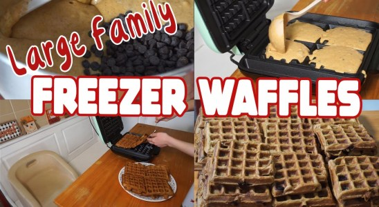 Large Family Freezer Waffles | Chocolate Chip Pumpkin Waffle Recipe