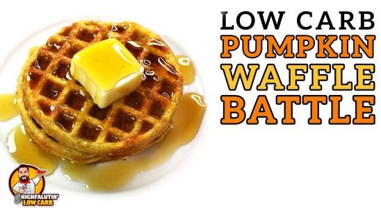 Low Carb PUMPKIN WAFFLE Battle - The BEST Keto Pumpkin Spice Waffle Recipe!