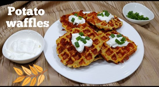 POTATO WAFFLES | CRISPY, CHEESY, QUICK AND EASY