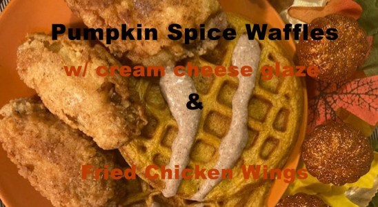 PUMPKIN SPICE WAFFLES WITH CINNAMON CREAM CHEESE ICING | FALL RECIPES | BREAKFAST FOR DINNER