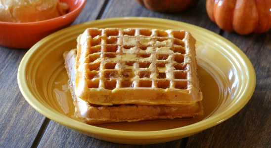 Pumpkin Waffles with Pumpkin Butter