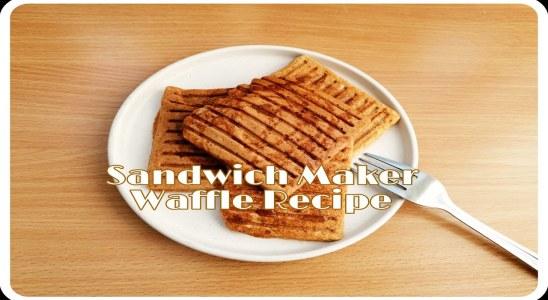 Quick Bites | Waffles Recipe In A Sandwich Maker?!