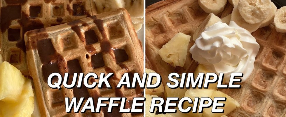 RESTAURANT STYLE 5 MINUTE WAFFLES RECIPE