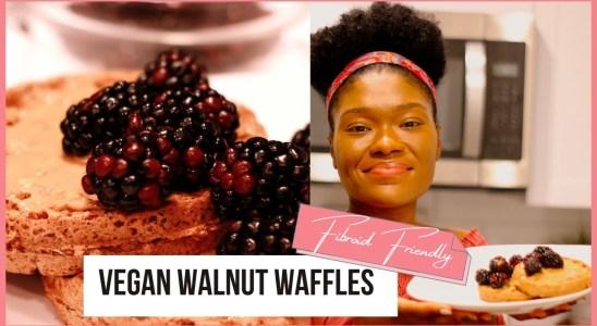 Vegan Walnut Waffles | Fibroid Friendly Recipes