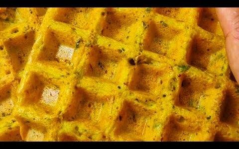 microgreen methi waffles/Savory waffles/ winter waffles/ microgreens recipe