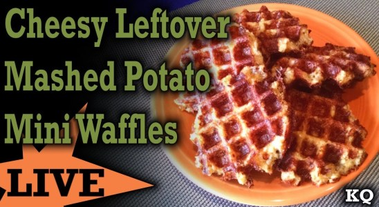 Cheesy Leftover Mashed Potato Mini Waffles - DASH Mini Waffle Iron