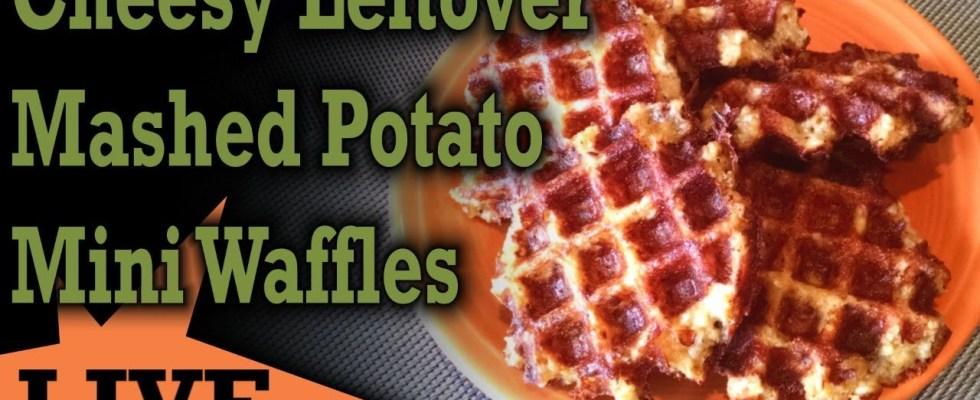 Cheesy Leftover Mashed Potato Mini Waffles - DASH Mini Waffle Iron