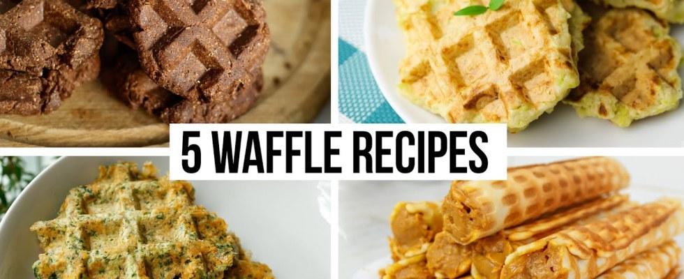 5 Waffle Recipes | Thin and Crispy Waffles Recipe | How To Make Waffles