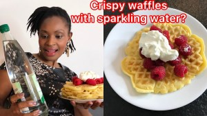 Learn how to make waffles FLUFFY using sparkling water.