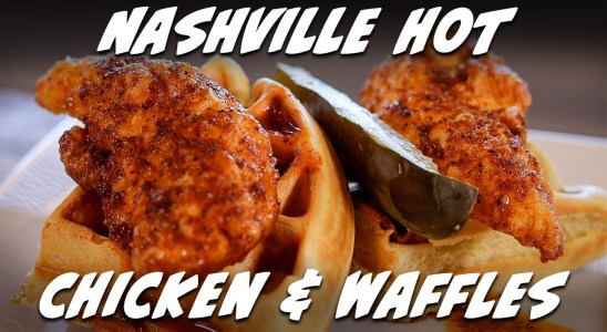 Nashville Hot Chicken and Waffles Recipe   Taste of Retirement