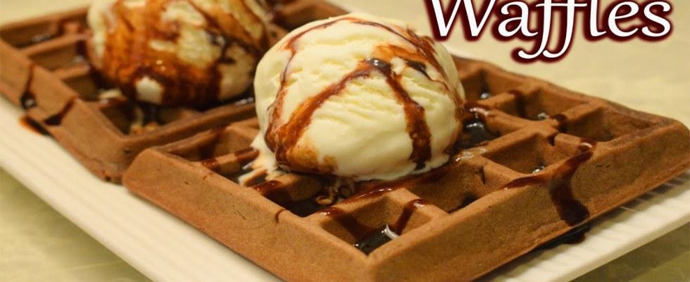 Chocolate Waffles Recipe   Belgian Waffles   How To Make Crispy Chocolate Waffles   Waffle recipe  
