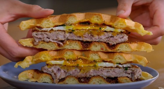 Delicious Breakfast Waffle Sandwich Recipe With Tara   Bake In   Food Lovers Arena