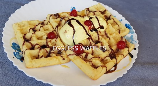 Eggless Waffles | Easy, tasty Recipe| How to make perfect waffles recipe| Breakfast |In Eng Subs