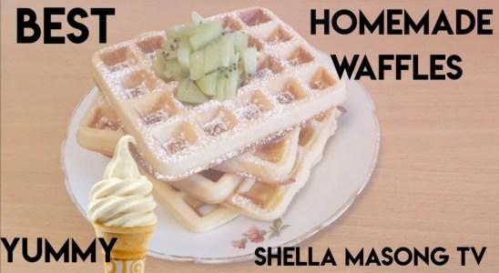 How to make waffles    Belgian waffles    crispy and fluffy waffles