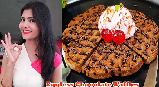 Belgian Waffle Recipe in OTG | Eggless Waffle Recipe | Chocolate Waffles | Chocolate Waffle Recipe