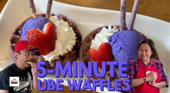 How to Make Quick and Easy 5 Minute Ube Waffles Recipe | Definitely Try This At Home