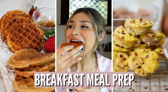 KETO BREAKFAST MEAL PREP! Keto Egg Bites & Keto Waffles! TWO EASY BREAKFAST MEALS ONLY 2 NET CARBS!