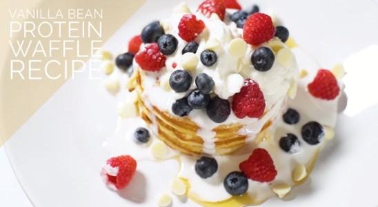 Light & Fluffy Vanilla Bean Protein Waffles Recipe