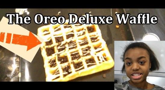 MIMI MAKES AN OREO DELUXE WAFFLE (Includes Recipe and Step-by-Step instructions)