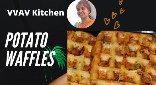 Potato Waffles   Recipe in Tamil   VVAV Kitchen