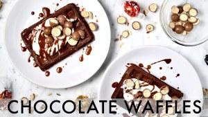 CHOCOLATE WAFFLES   easy breakfast recipe