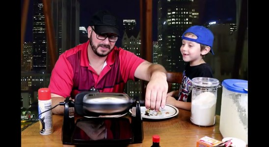 Cooking With Dad Episode #1 Grandma's secret waffle recipe